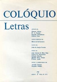 Colóquio/Letras n.º 7