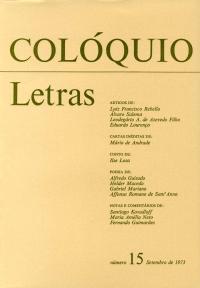 Colóquio/Letras n.º 15