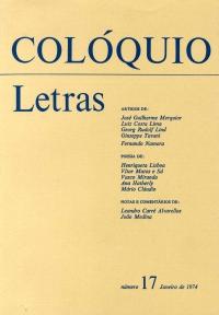 Colóquio/Letras n.º 17