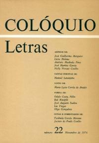 Colóquio/Letras n.º 22