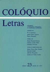 Colóquio/Letras n.º 23