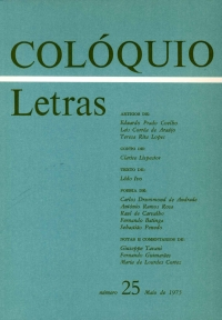 Colóquio/Letras n.º 25