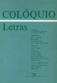 Colóquio/Letras n.º 26