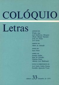 Colóquio/Letras n.º 33
