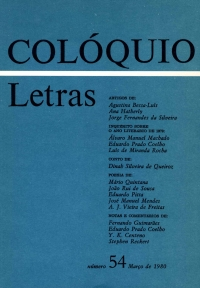 Colóquio/Letras n.º 54