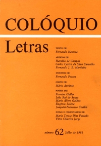 Colóquio/Letras n.º 62