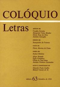 Colóquio/Letras n.º 63