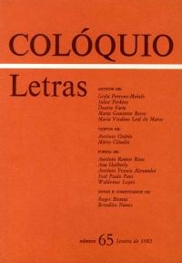 Colóquio/Letras n.º 65