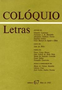 Colóquio/Letras n.º 67