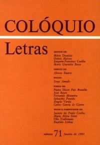 Colóquio/Letras n.º 71