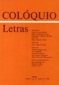 Colóquio/Letras n.º 77
