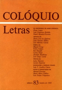 Colóquio/Letras n.º 83