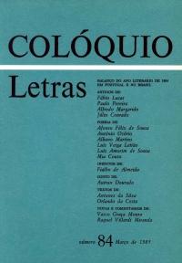Colóquio/Letras n.º 84