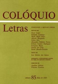 Colóquio/Letras n.º 85