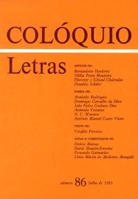 Colóquio/Letras n.º 86