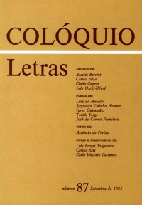 Colóquio/Letras n.º 87