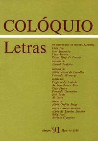 Colóquio/Letras n.º 91