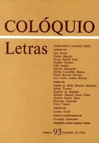 Colóquio/Letras n.º 93