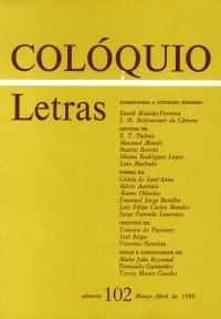 Colóquio/Letras n.º 102