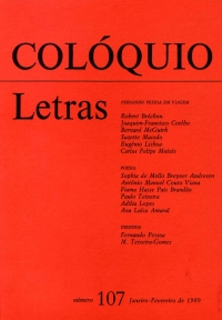 Colóquio/Letras n.º 107