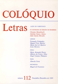 Colóquio/Letras n.º 112