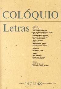 Colóquio/Letras n.º 147/148