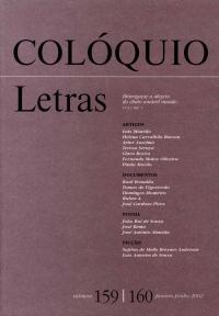 Colóquio/Letras n.º 159/160