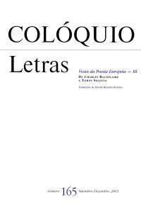Colóquio/Letras n.º 165