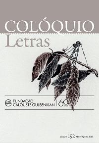 Colóquio/Letras n.º 192