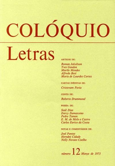 Colóquio/Letras n.º 12