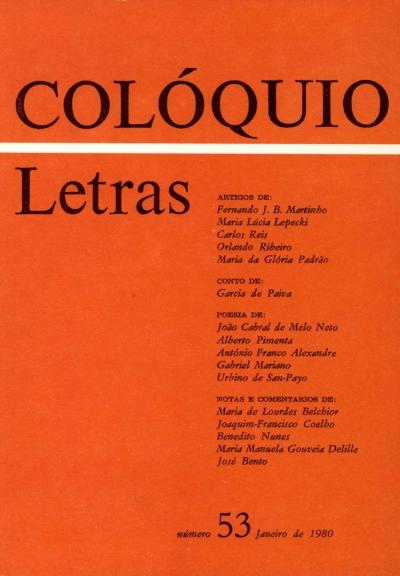 Colóquio/Letras n.º 53