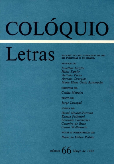Colóquio/Letras n.º 66
