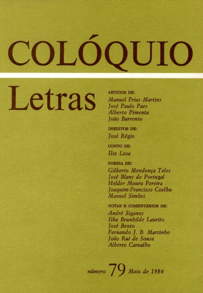 Colóquio/Letras n.º 79