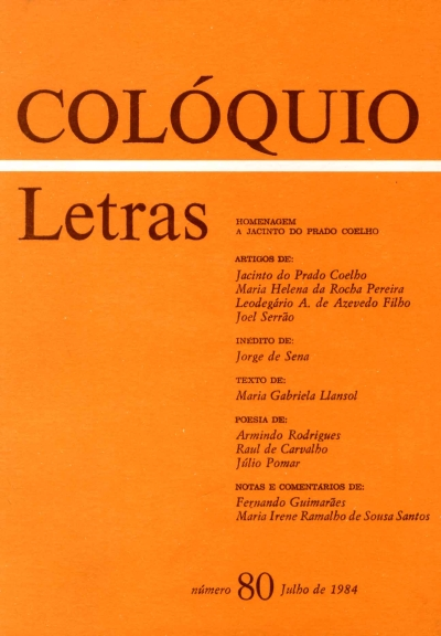 Colóquio/Letras n.º 80