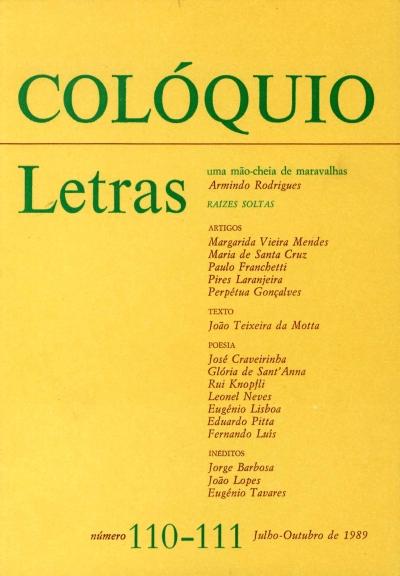 Colóquio/Letras n.º 110/111