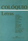 Colóquio/Letras n.º 27