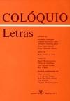 Colóquio/Letras n.º 36