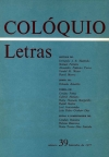 Colóquio/Letras n.º 39
