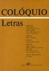 Colóquio/Letras n.º 40