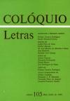 Colóquio/Letras n.º 103