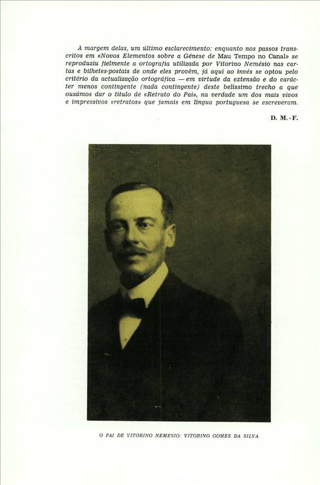 Vitorino Gomes da Silva, o Pai de Vitorino Nemésio